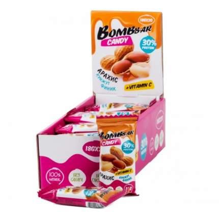 Протеиновые конфеты арахис, кунжут, финик 30% Bombbbar (18 г.)(20 шт.)
