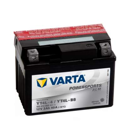 503014003_аккумуляторная Батарея! Евро 3ah 40a 114/71/86 Yt4l-Bs Moto Varta