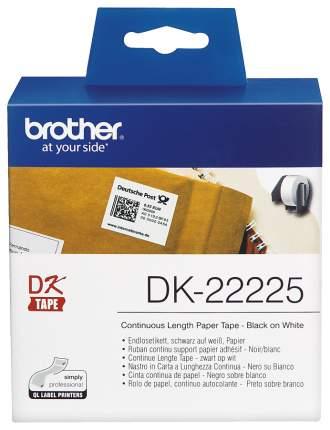 Картридж ленточный Brother DK22225 Белый