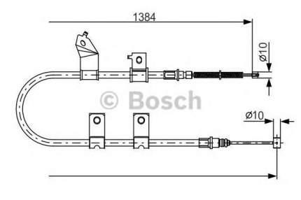 Трос cтояночного тормоза Bosch 1987482082