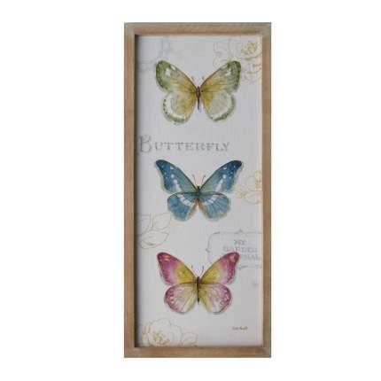 Деревянное панно Бабочки, 61x27x2cm