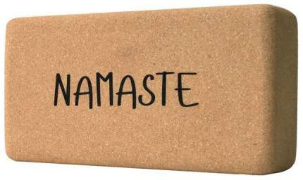 Кирпич для йоги Yoga Club из пробки с принтом Namaste