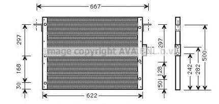Радиатор кондиционера Ava AU5075