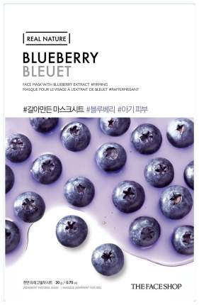 Маска для лица The Face Shop Real Nature Blueberry Face Mask 20 г