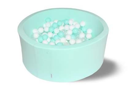 Сухой игровой бассейн Мятная жвачка 40см с 200 шариками: мятн, бел, прозр