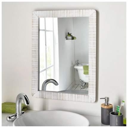 Зеркало настенное Frank 5855 48х65 см, лак белый