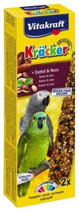Лакомства для птиц Vitakraft Kracker для африканских попугаев, финики и миндаль, 2 шт.
