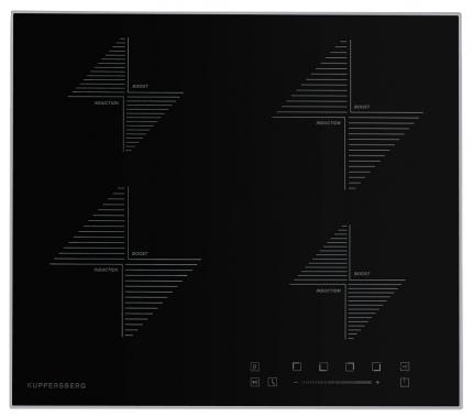Встраиваемая варочная панель индукционная KUPPERSBERG ICS 608 Black