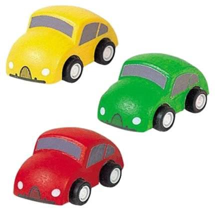 Набор игрушечного транспорта Plan Toys Город деревянные машинки 3 шт.