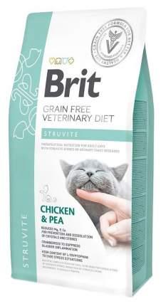 Сухой корм для кошек Brit Veterinary diet Struvite, при струвитном типе МКБ, курица, 0,4кг