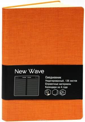 """Ежедневник недатированный """"New Wave"""" А6+, 272 стр,, оранжевый"""