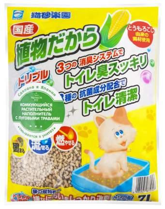 Комкующийся наполнитель Japan Premium Pet кукурузный, луговые травы, 2.3 кг, 7 л