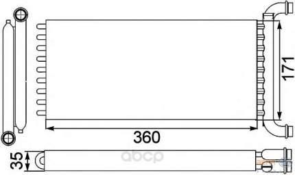 Радиатор отопителя HELLA 8FH351313571