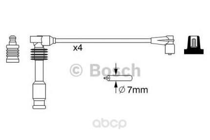 Комплект высоковольтных проводов Bosch 0986357237