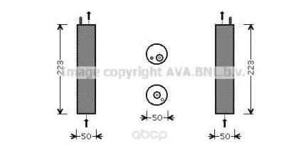 Радиатор кондиционера автомобильный Ava DWD057