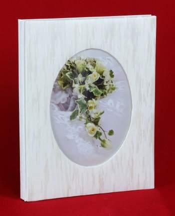 Фотоальбом свадебный, 40 магнитных страниц 21х30 см и 40 фото 10х15 см, крупные штрихи
