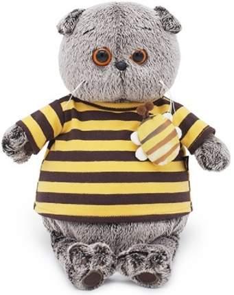 Мягкая игрушка BUDI BASA Кот Басик в полосатой футболке с пчелой 22 см