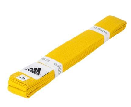 Пояс для единоборств Adidas Club желтый, 240 см