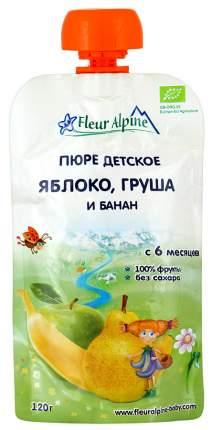 Пюре фруктовое Fleur Alpine Органик яблоко-груша-банан 6 мес. 6 шт.