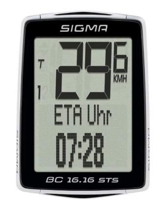 Велокомпьютер Sigma BC 16.16 STS CAD черно-белый