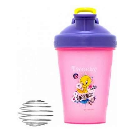 Шейкер IronTrue Looney Tunes Tweety 500 мл фиолетовый-розовый