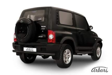 Защита заднего бампера d76 Arbori черный для Тагаз TAGER 2008-2012