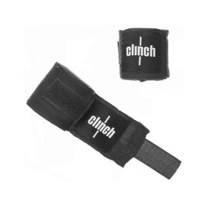 Боксерские бинты Clinch Boxing Crepe Bandage Punch черные 3,5 м