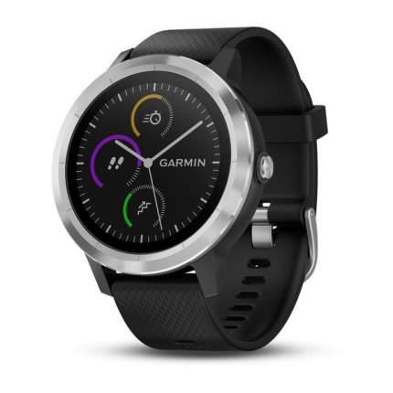 Смарт-часы Garmin Vivoactive 3 Silicone черные/серебристые