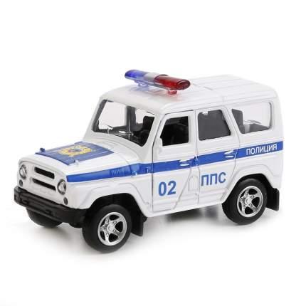 Машинка металлическая Автопанорама Полиция, белая, 1200052