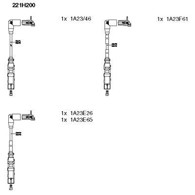 Комплект проводов зажигания BREMI 221H200
