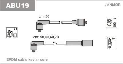 Комплект проводов зажигания JANMOR ABU19