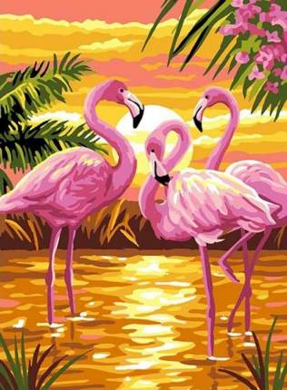 """Картина по номерам Paintboy """"Страна розовых фламинго"""", 40x50 см"""