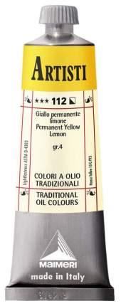 Масляная краска Maimeri Artisti желтый прочный лимонный 40 мл