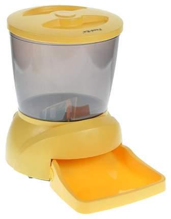 Автокормушка для животных Feed-Ex PF7Y мелких пород с ЖК-дисплеем, желтая, 4 л