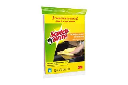 Салфетка для уборки 3M Scotch-Brite Универсальная 3 шт