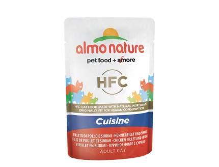 Влажный корм для кошек Almo Nature HFC Cuisine, курица, 24шт, 55г