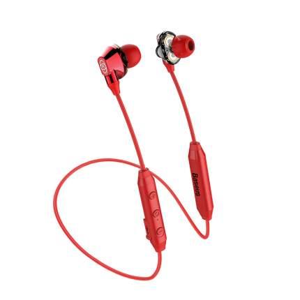 Наушники беспроводные Baseus Encok S10 Dual Dynamic Bluetooth Headset Red