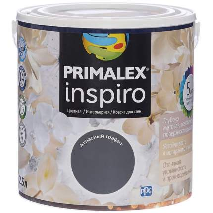 Краска для внутренних работ Primalex Inspiro 2,5л Атл. Графит, 420177