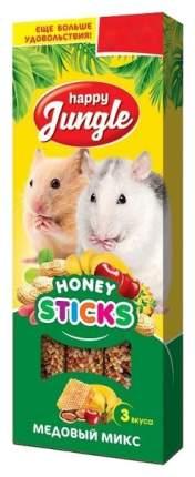 Лакомство для грызунов Happy Jungle Микс 3 вкуса, Палочки, 3 шт., 50 г