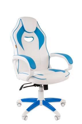 Игровое кресло CHAIRMAN game 16 00-07030049, белый/голубой