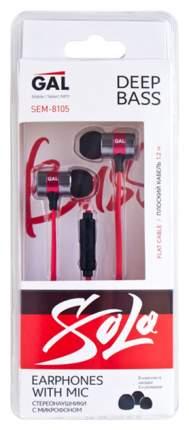 Наушники GAL SEM-8105 Black/Red