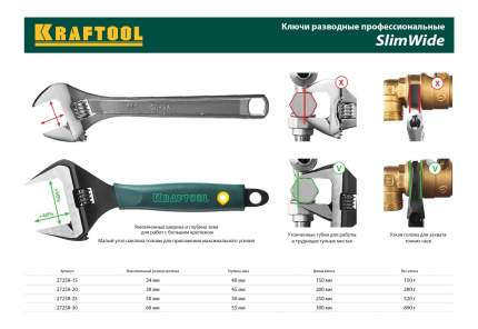Разводной ключ Kraftool 27258-15