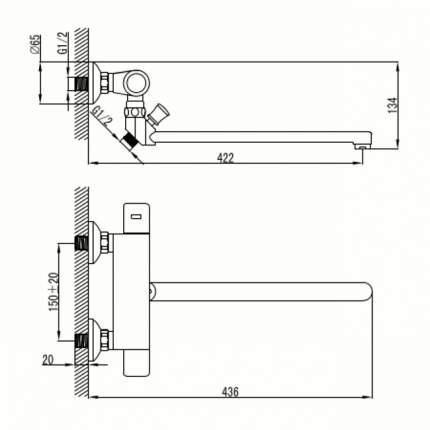 Смеситель универсальный LEMARK Thermo LM7734C хром