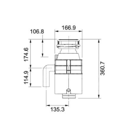 Измельчитель пищевых отходов Franke WD 50 сталь (134.0253.918)
