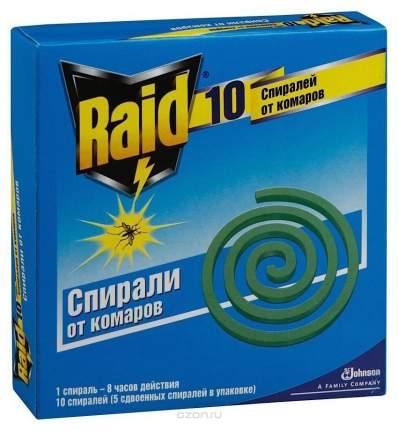 Спираль от комаров Raid Защита от комаров 10 шт