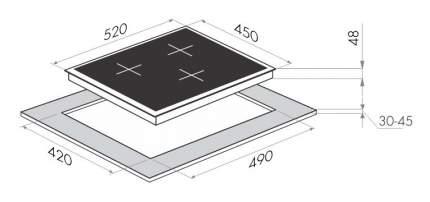 Встраиваемая варочная панель индукционная MAUNFELD MVI45.3HZ.3BT-WH White