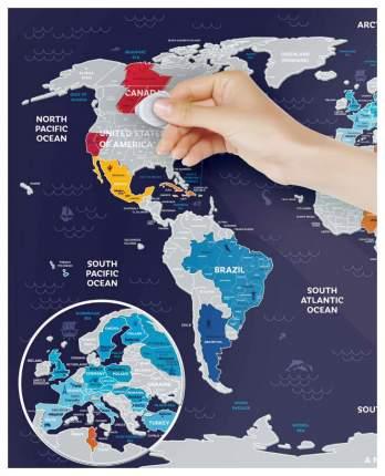 Географическая карта 1DEA.me Travel Map Holiday World