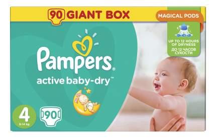 Подгузники Pampers Active Baby-Dry 4 (8-14 кг) - 90 шт