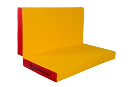 """Мат № 3 (100 х 100 х 10) складной """"PERFETTO SPORT"""" красно/жёлтый"""