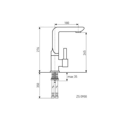 Смеситель для кухонной мойки Zigmund & Shtain ZS 0900 хром